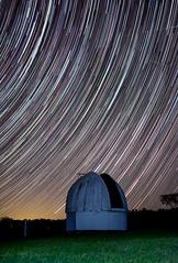 Star trail over old observatory (StefanKleynhans) Tags: nikon d7100 long exposure star trail lines streaks observatory night stars landscape green glow grass australia nsw astronomy