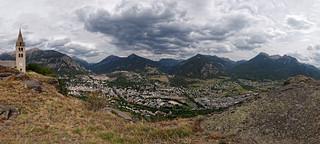 Panorama sur Briançon depuis Puy-Saint-Pierre