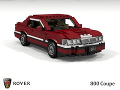 Rover 800 Coupe (lego911) Tags: rover 800 coupe 1992 1990s uk british v6 turbo auto car moc model miniland lego lego911 ldd render cad povray honda foitsop