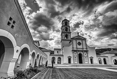 Thomas Equinas College (#Sunset Hunter#) Tags: chapel church faith blackwhite landscape ojai santa paula architecture pray catheral historic belltower basilica placeofworship canon5dmk3 canon thomasfire