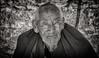 Old monk from Samye (Ditisit) Tags: samye tibet dranang monk budism flickrglobal nikon d70 bw china blackwhite ditisitphotographybytonbijvank