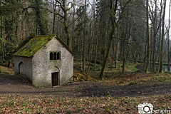 Gothic Pump House (Mike House Photography) Tags: gothic pump house abandoned unused disused water mud muddy green leaves trees wood forest winter autumn dark dingy river pool pond brown croft castle national trust grounds park outdoors travel herefordshire estate