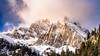WinterWonderLand II (K.H.Reichert [ not explored ]) Tags: gebirge schnee passroad sonnenstern southtyrol mountains berge berg alpen snow kurven reise strase passstrase sky fog dolomiten sunstars nebel natur