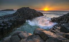Sunrise, Fingal Heads, NSW, Australia (Sudhir Wahi) Tags: select nikon d800 nikon1635mmlens reallyrightstufftripod sunrise landscape seascape waves basaltcolumns fingalheads nsw australia