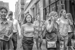 Untitled (Steve Lundqvist) Tags: new york usa states united america manhattan stati uniti travel trip viaggio traveling girl ragazza model bw urban city urbanscape portrait ny nyc persone monocromo ritratto fashion moda mood attractive beauty crossing street road fujifilm x100s crossroad streetphotography crowd