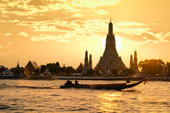 Wat Arun at sunset, Bangkok Thailand (Patrick Foto ;)) Tags: ancient architecture arun asia attraction background bangkok beautiful boat buddhism buddhist chao chedi city cityscape copyspace culture destinations dusk east famous holiday landmark nature night oriental pagoda phraya place religion religious river silhouette sky skyline southeast spirituality stupa sunrise sunset temple thai thailand tourism traditional travel twilight vacations wat water krungthepmahanakhon th