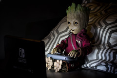 Groot Game Time (Jezbags) Tags: baby groot playing nintendo switch macro macrophotography macrodreams marvel marvelstudios hoytoys sideshow collectibles guardians galaxy vol 2 guardiansofthegalaxyvol2 sixthinch actionfigure figure iamgroot canon80d 80d 100mm gametime lights night controller