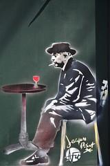 Jacques Prévert (just.Luc) Tags: man male homme hombre uomo mann portret portrait ritratto retrato graffiti streetart urbanart café restaurant montmartre parijs parigi paris france frankrijk frankreich francia frança europa europe dichter poet poète writer schrijver écrivain autor