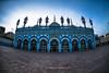 An expression of devotion in architecture (High Blue) Tags: jamiamasjid markazijamiamasjid rawalpindi historicalplacesofpakistan mosquesofpakistan masjidsofpakistan frescowork bestoffrescowork pakistan punjab