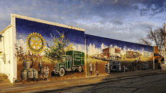 Downtown Stillwater mural 2018 (hz536n/George Thomas) Tags: 2018 canon5d ef1740mmf4lusm stillwater oklahoma mural art winter downtown sky nik cs6 copyright