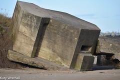 Bunkered bunker (Katy Wrathall) Tags: 2018 eastriding eastyokrshire england fraisthorpe january beach coast seaside winter