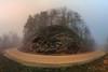 Towards St Vid Chapel (Neferkheperure) Tags: fog rocks rocky mountain landscape panorama stitched