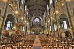 Eglise Saint-Augustin - Paris (hervétherry) Tags: france iledefrance paris 75008 canon eos 7d efs 1022 eglise saintaugustin place baltard roman byzantin nef choeur transept orgue charpente fer rosace