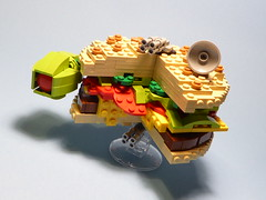 Cheeseburgian Freighter (Clarkanine) Tags: freighter wars millennium falcon lego cheeseburger
