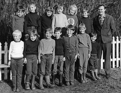 School Photo (theirhistory) Tags: children boys kids girl teacher jumper trousers suit wellies shirt jacket shoes boots class form school pupils students education
