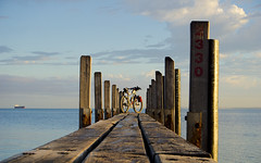 Dock of the Bay (Macr1) Tags: 61403327236 architecture australia bicycle bike builtenvironment camera conditions default filters geography goldenhour ilce5100 jetty location mtb manglesbay markmcintosh murubnt murucycles ocean outdoor rockingham shore sony sonyilce5100 sony5100 structure wa water westernaustralia wharf macr237gmailcom ©markmcintosh 5100 au α5100 sonyα5100