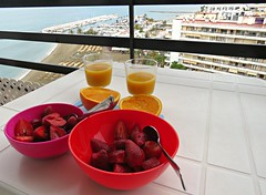 Breakfast On The Balcony! ('cosmicgirl1960' NEW CANON CAMERA) Tags: marbella puertobanus costadelsol andalusia spain espana travel holidays yabbadabbadoo cars