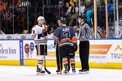 "Kansas City Mavericks vs. Indy Fuel, February 17, 2018, Silverstein Eye Centers Arena, Independence, Missouri.  Photo: © John Howe / Howe Creative Photography, all rights reserved 2018 • <a style=""font-size:0.8em;"" href=""http://www.flickr.com/photos/134016632@N02/39490833315/"" target=""_blank"">View on Flickr</a>"