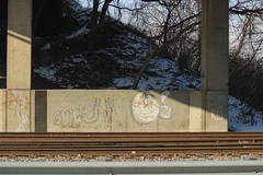 Cray (NJphotograffer) Tags: graffiti graff new jersey nj bridge trackside rail railroad cray