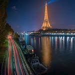 Eiffel Tower and the Seine thumbnail