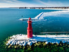 Algoma Pierhead Light - Explored (Sharky.pics) Tags: 2018 unitedstatesofamerica drone algoma dji wisconsin algomapierheadlight djimavicpro february aerial aerialphotography unitedstates usa us