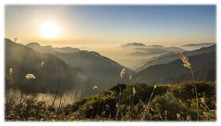 在能高越嶺步道等夕陽