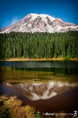 "Monday's JBP Photo of the Day! ""Mount Rainier Sunrise on The Wonderland Trail at Reflection Lakes"" (Joe Boyle Photography) Tags: mount mt mountain rainier national park geographic landscape peace serenity majestic majesty beautiful beauty volcano wonderland trail paradise river campsite campground sunrise reflection lake lakes morning longmire trailhead jbpphotooftheday"