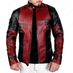 Deadpool leather jacket (ethan.william) Tags: jacket movies ootd style fashion shopping deadpool leatherjacket marooncoat wintercollection newarrival