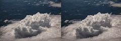 Cumulus Tower (Matt Molloy) Tags: mattmolloy stereoscopic crosseye 3d photography cumulus clouds fluffy tower shadows ground town village fields birdseyeview onaplane flying above southeastasia landscape lovelife