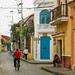 Morning Street Scene, Cartagena Colombia