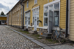 Vahna Rauma (davide on the road) Tags: rauma finland historical city centre old town bycicle wood colour summer