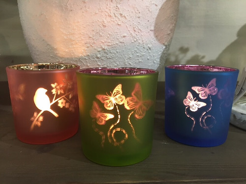 Set of 3 T/Lights Butterflys and Birds