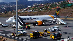 Thomas Cook Airbus A321 OY-TCD (Steenjep) Tags: madeira portugal ferie holiday urlaub funchalairport airplane airfield runway truck landscape sky thomascookairlines thomascook airbus a321 oytcd