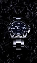 Longines Hydroconquest (rs505) Tags: longines hydro conquest hydroconquest watch wristwatch screw studio shot diver uhr armbanduhr swissmade nikon sigma foto low key