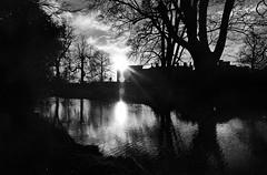 Himley Hall (Dave.Miles) Tags: ilfordxp2 olympus olympusom10 redfilter 24mmlens himley himleyhall winter sunset film filmisnotdead 35mm 35mmfilm analogue
