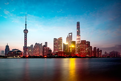 Shanghai city skyline in the morning, Shanghai China (Patrick Foto ;)) Tags: architecture asia attraction beautiful building business central china chinese city cityscape copyspace district downtown dusk evening famous finance financial huangpu landmark light lujiazui metropolis modern morning night office oriental panorama pearl place pudong reflection river scene shanghai sky skyline skyscraper tall tourism tower travel twilight urban view vintage water waterfront shanghaishi cn