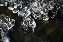 Ice formations (Henri Koskinen) Tags: ice jää abstract winter talvi crystal crystals stream water frozen hindsby byabäcken finland 14012018