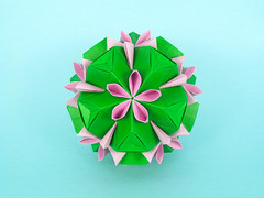 Oscularia (masha_losk) Tags: kusudama кусудама origamiwork origamiart foliage origami paper paperfolding modularorigami unitorigami модульноеоригами оригами бумага folded symmetry design handmade art