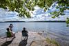 Regatta (marregurra2012) Tags: sailing summer outlook chair couple sea water trees archipelago