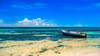 Boat Of Tranquility (mikederrico69) Tags: beach blue summer sea sky seaside boat water sun clouds carribean colors colorful island tropical trip travel peaceful meditation aruba vacation exploration relaxation weather tropic