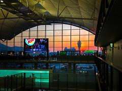 In Transit (Rice Bear) Tags: hongkong airport dusk iphone iphone10 iphonex international orange silhouette sunset travel newterritories hk