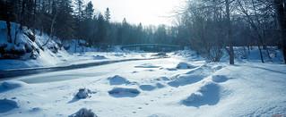 Rivière Saint-Charles en hiver, Québec, Canada - 4540