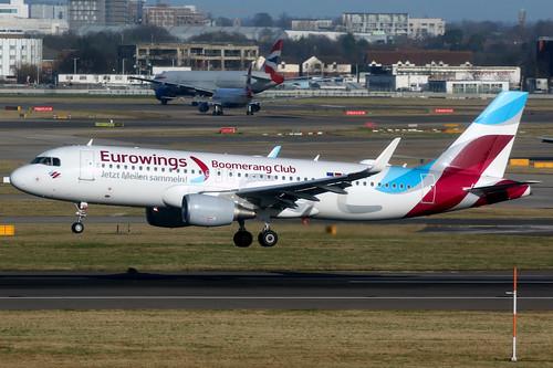 eurowings ewg ew germany aircraft airplane airport plane planespotting canon 7d 100400 london heathrow egll lhr airbus a320 airbusa320 sharklets daewm