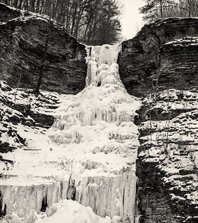 Aunt Sarah's Falls Frozen Over