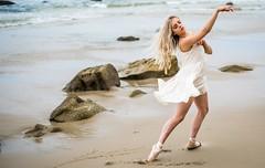 Beautiful Ballerina Beach Goddess Model Dancing Ballet Leotard & Pointe Shoes! (45SURF Hero's Odyssey Mythology Landscapes & Godde) Tags: great american southwest landscapes by california fine art landscape photographer elliot mcgucken nature photography