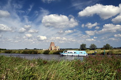 St Benet's Abbey (Worthing Wanderer) Tags: norfolk summer sunny cloudy water boats farmland august bure broads pathfinderguides path