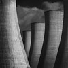 Powerstation 5 (Paul Evans.) Tags: power station cooling towers electric electricity generation brick shape light golianth black white bw mono fine art goliathan form