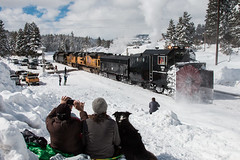 A Sight for the Ages (Defect Detector) Tags: california ca canon railroad rotary sp sprr spmw southernpacific donnerpass winter snow train
