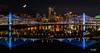 City Lights (ErikStrotPhotography) Tags: pdx portlandoregon portlandbridges bridge citylights bestoforegon oregon oregonexplored tilikumcrossing sony3518 sonya6300 reflection cityreflection moonlight willametteriver pano nightlife travelportland traveloregon