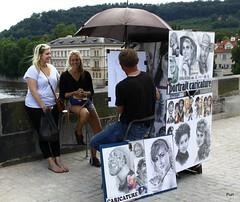 Portrait caricature! (puri_) Tags: ponte pedonal praga carlos caricatura meninas